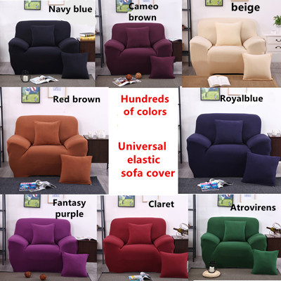 SG STOCK☆Universal Spandex 4 Sizes Sofa Cover Cushion Pillow Cover FREE PILLOW  COVER Part 80