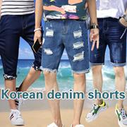 2018 Men Casual Sports Shorts ★ Denim Pants Beach Jeans Bermudas Printed Cotton shorts