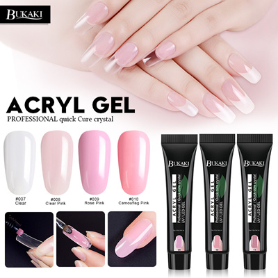 Poly Gel Nail Art UV Builder Gel Nail Tips Fake Nail Glue Gel Paint French  Color Transparent Clear