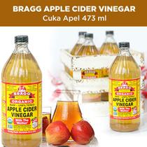 BRAGG Apple Cider Vinegar ( Cuka Apel) 473 ml (BEST SELLER in Qoo10 SG)!!