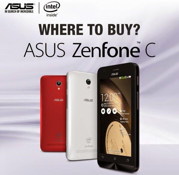 Asus Zenfone 4C ZC451CG RAM1GB 8GB Jaringan 3G