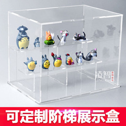 High Transparent multilayer acrylic display box anime hand Office doll puppet model Storage box Dust