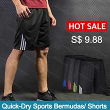 【OneSecond】 [Super Quick-Dry] Mens Sports Bermudas/Shorts/Pants Soccer/Running/Training/BasketBall