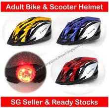 Bicycle Helmet with LED Light / Adult Bike Road Helmet / Safety / Design Streamline / Rollerblading