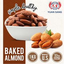 BAKED ALMOND NUTS 1KG / Healthy Snacks / Almonds Hazelnut Cashew Wholesale Quality Fresh Tasty