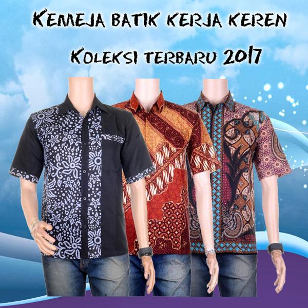 Kemeja Batik Kombinasi Embos Gonta Deals for only Rp50.000 instead of Rp50.000