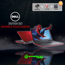 DELL INSPIRON 7567 RED ( I7-7700HQ / 8GB / 128GB SSD + 500GB HDD / 4GB NVIDIA GTX1050TI DDR5 )