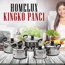HOMELUX / KINGKO Panci Set 5 Buah Free Ongkir Jabodetabek