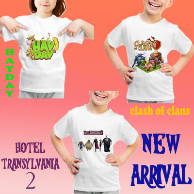 NEW ARRIVAL FOR KIDS! T-shirt Hotel Transylvania 2?Hayday?Size Anak 3-9?High Quality Guarantee! Deals for only Rp24.000 instead of Rp24.000