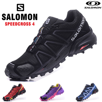 【100 Color】Speedcross 4 Salomon Men/Women Outdoor basketball Shoes Hiking Sneakers Running