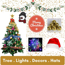 *2017 * Xmas Tree and decorations ** LED lights ** Santa Hats **
