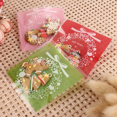 Christmas Cellophane Bags.100pcs Christmas Xmas Cookie Biscuit Gift Candy Party Filler Cello Cellophane Bags