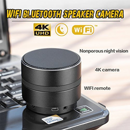 4K 1080P WIFI HD Camera Mini Bluetooth Speaker Wireless Video Recorder