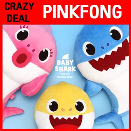 [PINKFONG] Baby Shark Sound Doll/Melody Toy/Daddy Shark/Animation/Role Playing/Educational /Gift