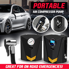 ★SG★2018 Digital Tire Inflator DC 12 Volt Car Portable Air Compressor Pump 150 PSI Auto LED Light