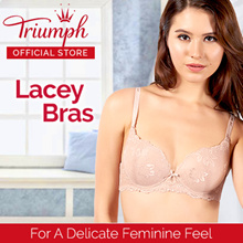 Triumph Lacey Bras / Feminine / Sloogi Bras / Sports Bra / Wired / Push Up / Padded