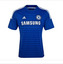 14-15 season Chelsea jersey Home Away Short Sleeve Soccer Jersey Azar second training jersey Thai ve