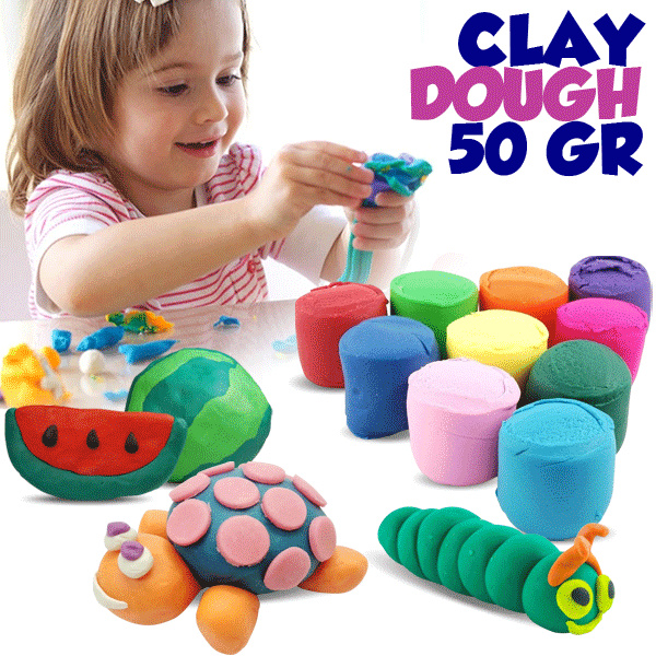 Play Dough 50gr / Fun Doug / Lilin Mainan doh / Clay malam / Refill Deals for only Rp0 instead of Rp0