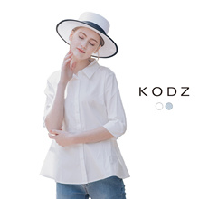 KODZ - Buttoned Shirt With Trumpet Hem-180413