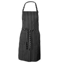 Stripe Apron Chef Waiter BBQ Restaurant Kitchen Black And White Stripe Apron