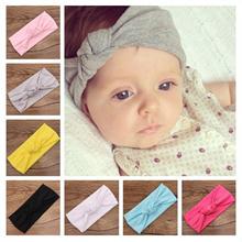 Baby Tie Knot Headband Knitted Cotton Children Girls Hair Band Toddler Turban Headband Summer Style