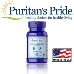 Puritans Pride Methylcobalamin Vitamin B-12 1000 mcg / 30 Microlozenges