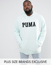 c53c6f6b634 Puma PLUS Skate Hoodie With Large Logo In Blue Exclusive to ASOS 57659002