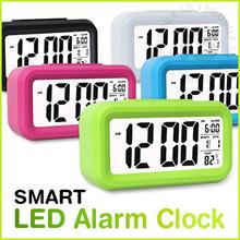 Smart Digital Alarm Clock Big LED Screen Light Sensor Motion Control Voice Recording