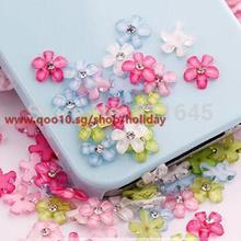 50pcs Mixed Handmade Glass Cabochons12mmMixed Floral Designs