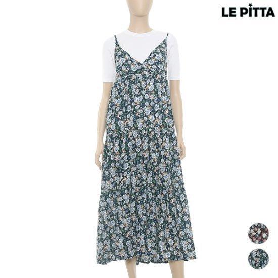 ルピタフラワー塔ロングワンピースL163TOP854 面ワンピース/ 韓国ファッション