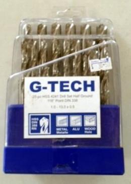 G-Tech HSS High Speed Steel Drill Bit Set 25pc