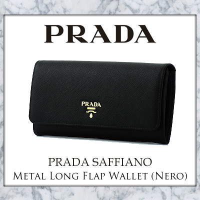 a63c125566013c Qoo10 - Prada Saffiano Metal Long Flap Wallet (Nero) : Bag & Wallet
