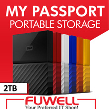 WD - My Passport 2TB External USB 3.0 Portable Hard Drive w Auto Back Up Software.3 Year Warranty!
