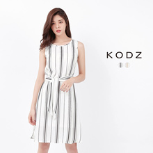 KODZ - Striped Tie-waist Dress-171830