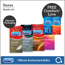 [RB]【Fast delivery】Authentic Durex Condoms x 4 | DISCREET PACKAGING *Official Durex Retailer*