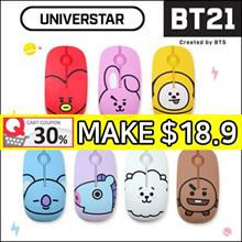 [BT21 by BTS] Wireless Silent Mouse / Noiseless Button ★ UNIVERSTAR BT21 Character Face Design