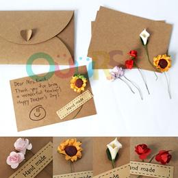 Flower DIY Card I Teachers Day I DIY Greeting Card I Floral Design Card I DIY Gift I Unique GiftCard