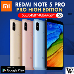 Xiaomi Redmi Note 5 Pro High Edition 6GB/64GB * 4GB/64GB * 3GB/32GB | With Google Playstore |Export