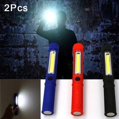 Multifunction COB LED Pocket Pen Light Inspection Work Light Flashlight+Clip