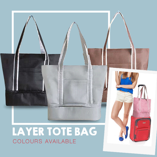 *NEW ARRIVAL* LAYER TOTE BAG!! TRAVEL CABIN TOTE BAG!SEPARATED SPACE TRAVEL TOTE BAG