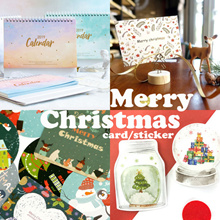 ★★Christmas 2018★★ Calender 2019/ xmas postcard/ stickers