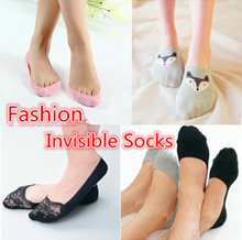 [BUY 5 FREE 1][GREAT SALE][SG Ready Stock]*Korea Style Fashion Women*Men Invisible Sock/Bamboo Boat