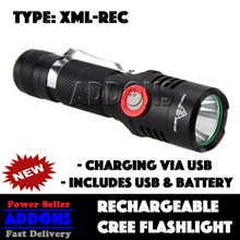 Super Bright Rechargeable CREE LED Torchlight Flashlight lights BICYCLES BIKE LIGHT