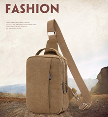 NEW COLLECTION -  Tas Selempang Pria Import Bahan Kanvas / Men Sling Bag / Shoulder Bag - 4 Colour