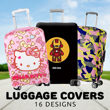 Luggage Covers for travel holidays fits Samsonite Tourister Rimowa (Hello Kitty/Captain America)