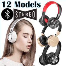 ★ 12 MODELS ★On-Ear/Over-Ear Headphone Bluetooth 4.0 Wireless Stereo with FM Radio MP3 MIC