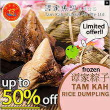 [Tam Kah] Traditional Rice Dumpling Series(4PCS) - 6 Flavours ♦ 1.Nyonya | 2.Spiced Meat | 3. Peanut
