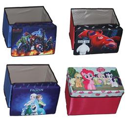 Storage Uniq /kursi box lipat /kursi balon/My Little pony / Avengers / Frozen / Big Hero 6