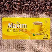 Maxim Mocha Gold Korean Instant Coffee 20 Sticks