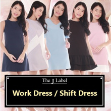 THE J LABEL- 2018 Work Dress / Shift Dress / Office / Party / Casual / Basic / Plain
